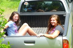 Katie & Maile truck