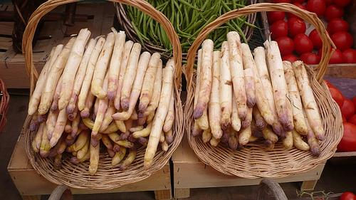 white asparagus at Beaune