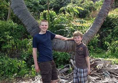 boys-coconut-tree